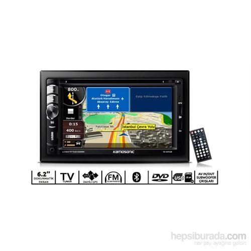 KAMOSONİC KS-ND7620 6.2''-DVD-CANBUS-TV-Bluetooth-GPS Oto Double